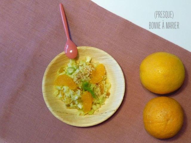 Taboulé de boulghour fenouil orange