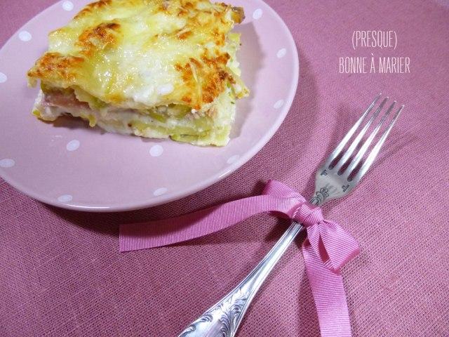 Lasagnes aux courgettes, jambon et ricotta