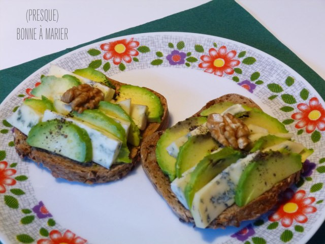 Tartine avocat Fourme d'Ambert