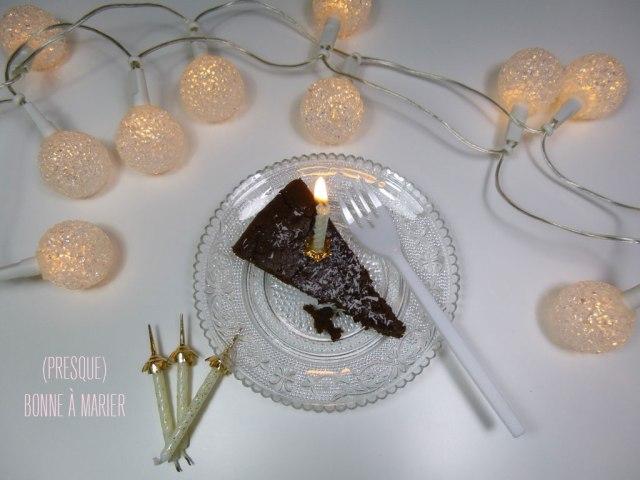 Gâteau vegan au chocolat et touche coco