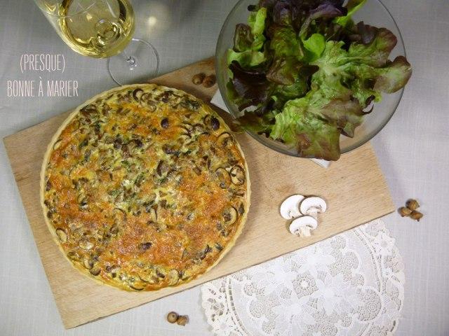 """Quiche """"Bonjour l'automne"""" aux champignons"""