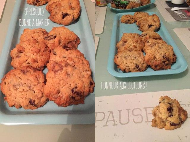 Cookies aux éclats de chocolat, Pralinoise et noix