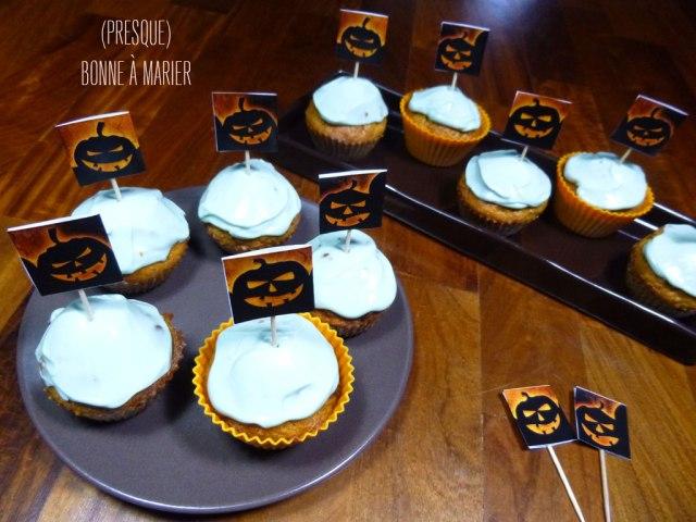 Carrot cupcakes pour Halloween