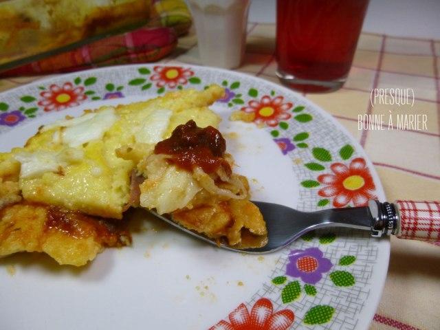 Lasagnes de polenta au jambon italien et mozzarella