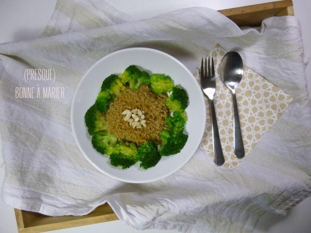 Boulghour des jours de flemme {sauce rapide tahini soja}