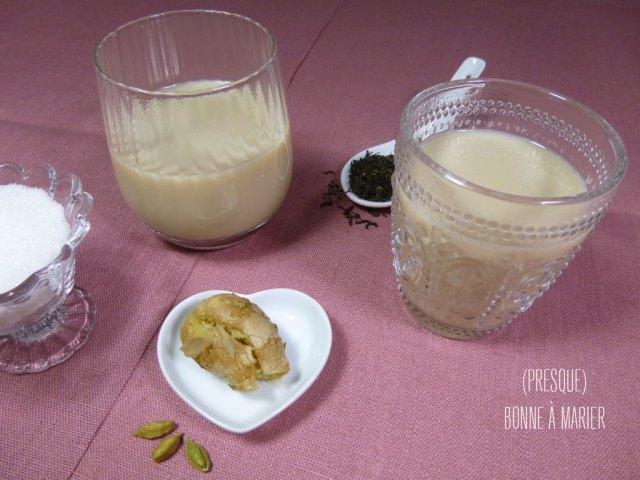 Masala chai ou thé aux épices comme en Inde