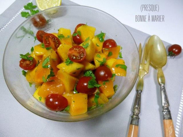Salade sucrée salée aux kakis