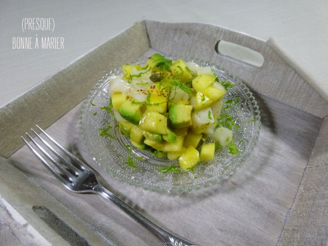 Tartare de saint-jacques, mangue et avocat