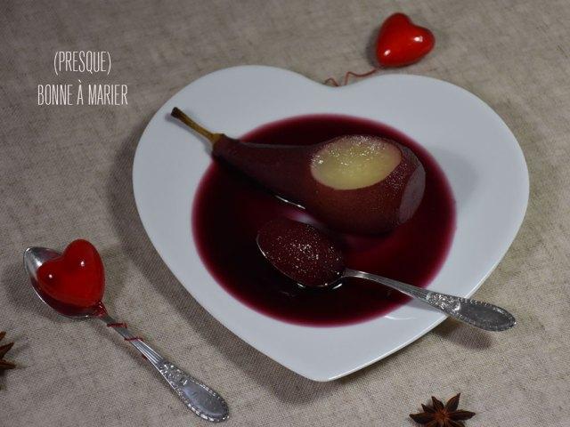 Poires pochées au vin aphrodisiaque