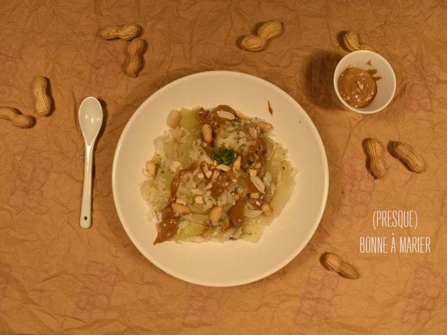 Riz au fenouil et aux cacahuètes