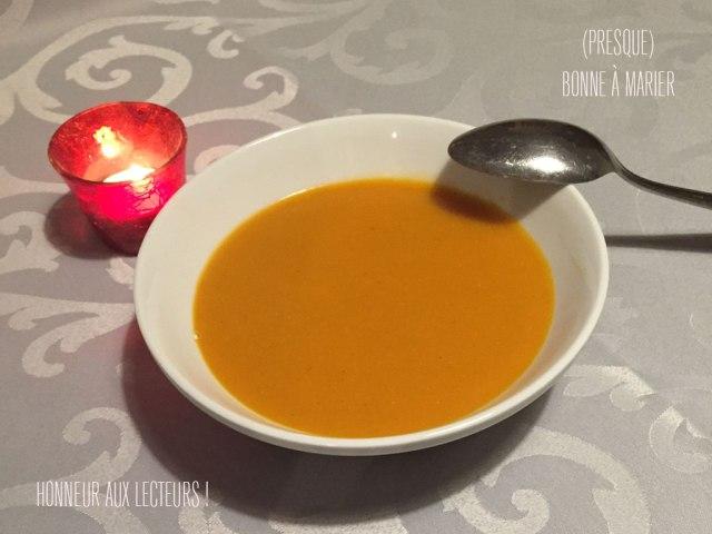Soupe de courge butternut et lentilles corail aux épices