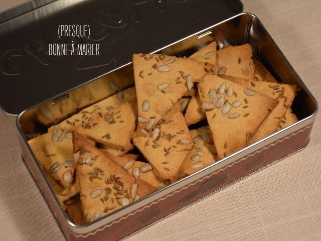Crackers à la farine de pois chiches et au cumin
