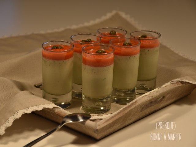 Panna cotta aux olives et son coulis poivron rouge {Bataille Food #33}