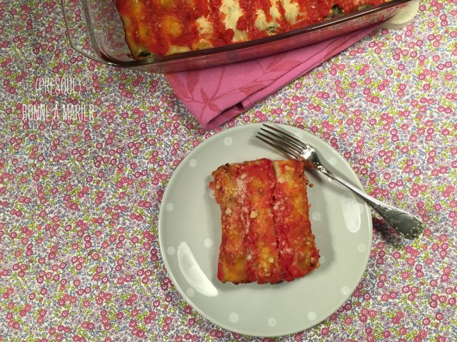 Cannelloni végétariens à la ricotta et aux légumes