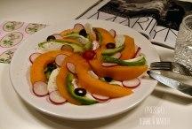 Salade improvisée melon avocat mozzarella