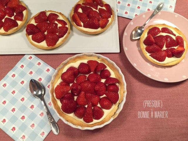 Tartelettes légères aux fraises et mascarpone