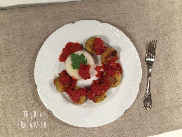 Kefta de courgettes, boulettes vegan aux courgettes