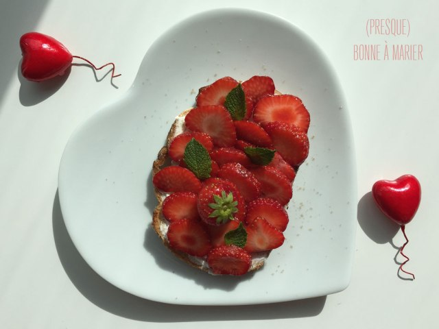 Tartine amoureuse aux fraises