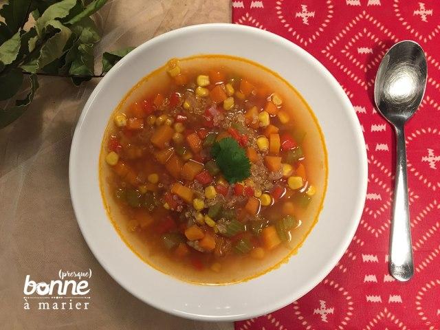 Soupe péruvienne au quinoa