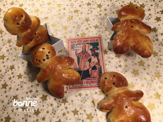 Mannele petits bonshommes en brioche Saint-Nicolas