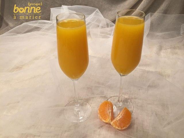 Cocktail Mimosa twisté à la clémentine et au Grand Marnier