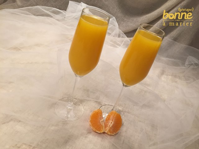 Cocktail Mimosa twisté à la clémentine et au Grand Marnier