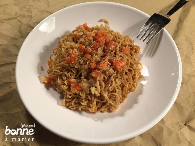 Mes nouilles chinoises express au soja et au sésame