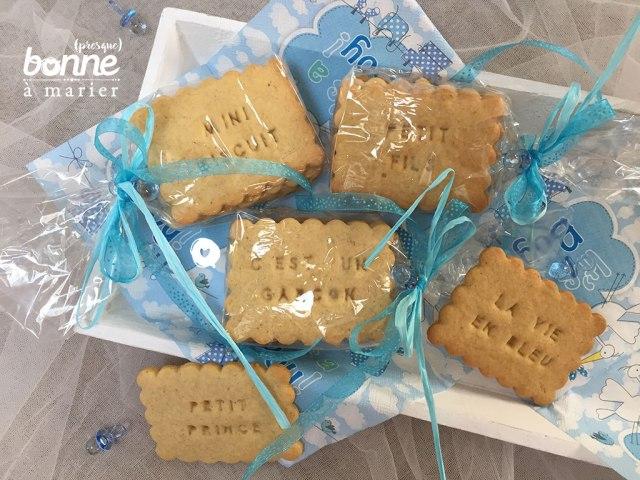Sablés à la fleur d'oranger Biscuits à message