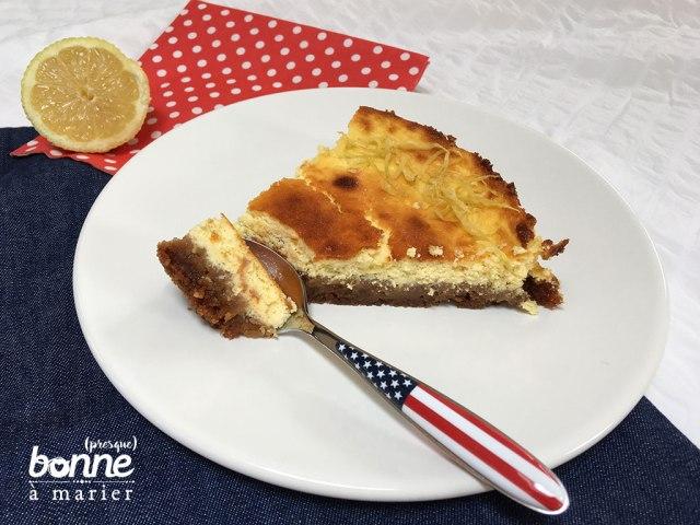 Cheesecake au citron et aux Spéculoos