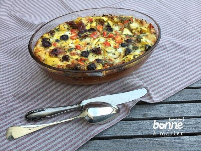 Clafoutis aux légumes d'été et mozzarella