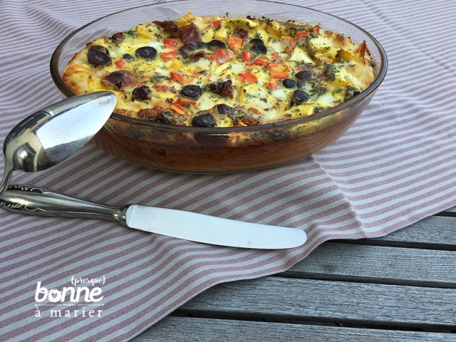 Clafoutis aux légumes du soleil et mozzarella