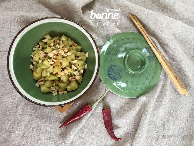 Salade de concombre à tendance asiatique