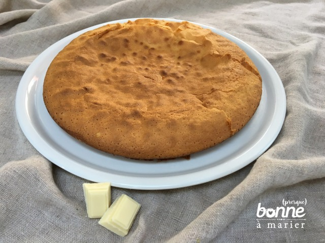 Gâteau au yaourt et chocolat blanc
