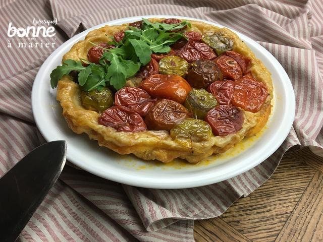Tarte Tatin salée aux tomates et vinaigre balsamique