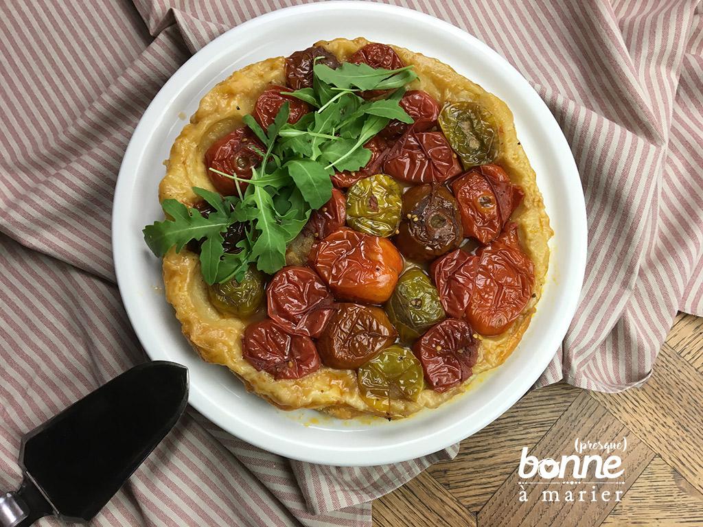 Tatin de tomates au vinaigre balsamique