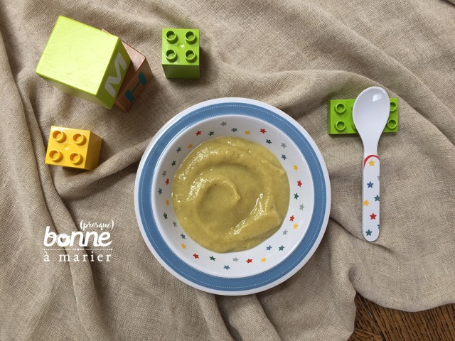 Compote bébé rhubarbe banane dès 12 mois