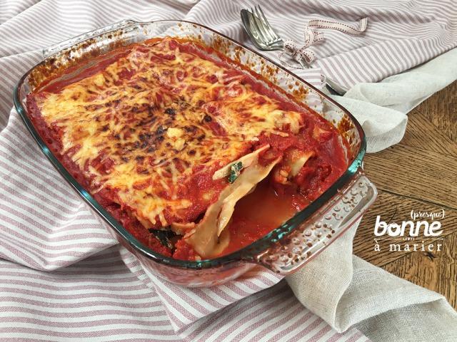 Cannelloni aux feuilles de blettes et ricotta