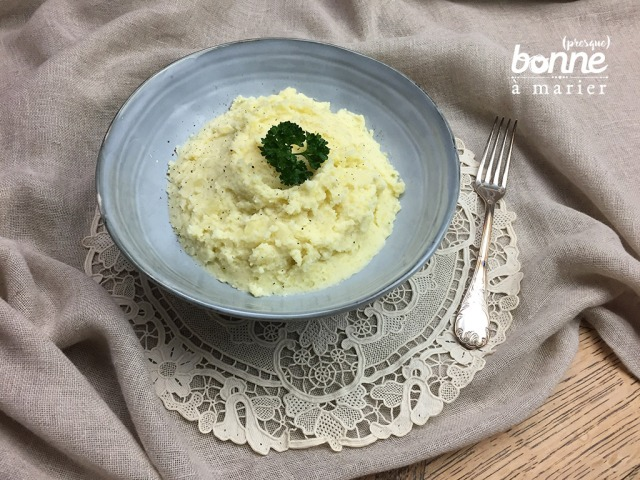 Purée de pommes de terre au gorgonzola