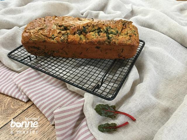 Cake salé aux blettes, roquefort et tomates séchées
