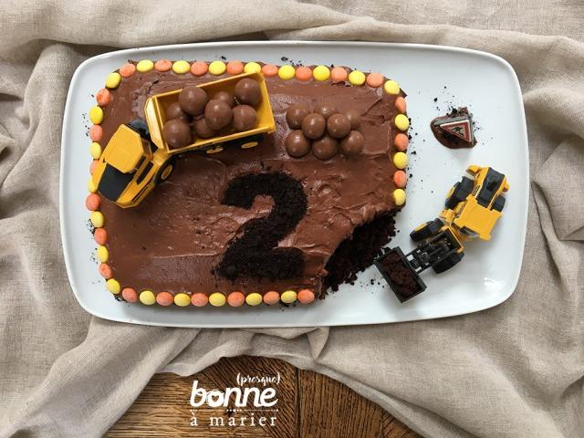Digger cake au chocolat