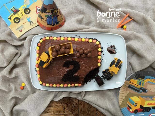 Construction cake au chocolat