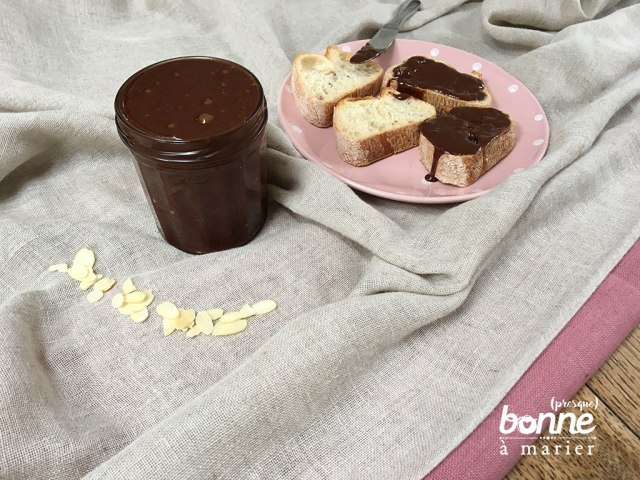 Pâte à tartiner choco amandes