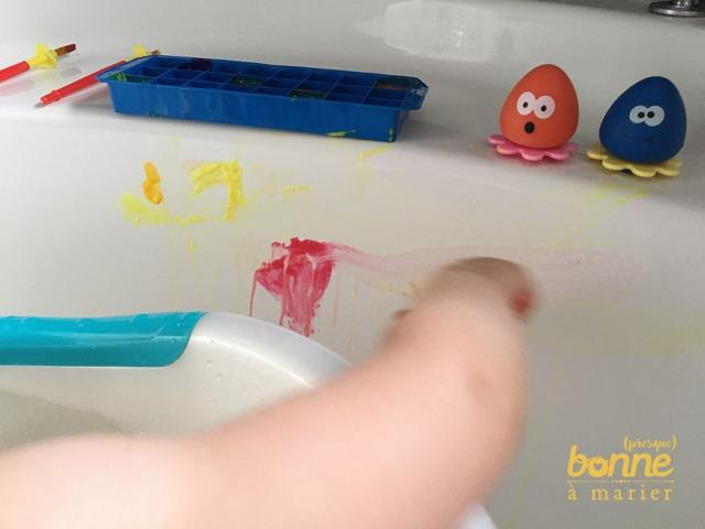 Peintures pour le bain des enfants