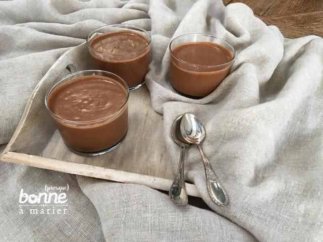 Crème au chocolat vegan sans sucre, sans crème, sans œuf