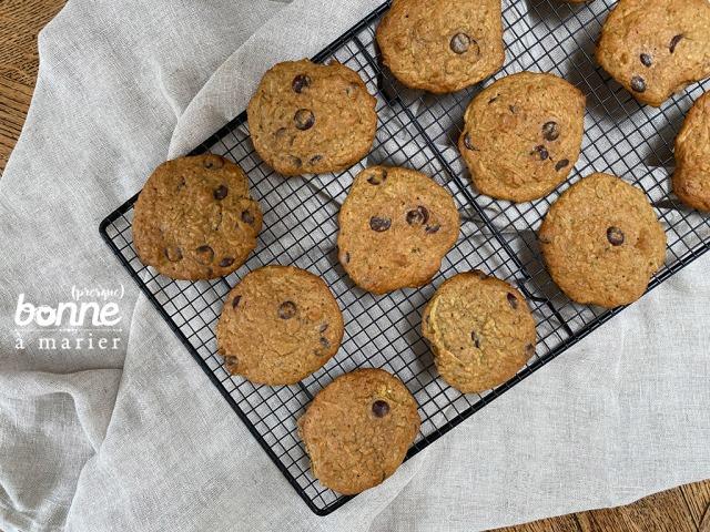 Cookies cannelle pépites de chocolat et courgette