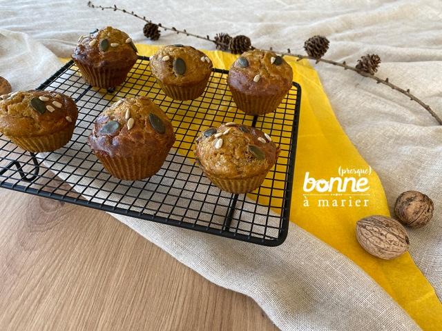Muffins apéro au potiron et aux graines